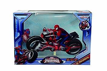 majorette 213089746 radio commande voiture motorbike spiderman echelle 116
