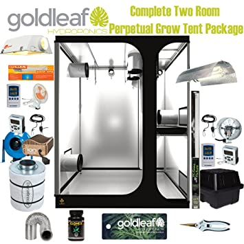 Complete Two Room Perpetual Grow Tent Kit w/600W Sealed HPS Filter Fan  sc 1 st  Amazon.com & Amazon.com : Complete Two Room Perpetual Grow Tent Kit w/600W ...