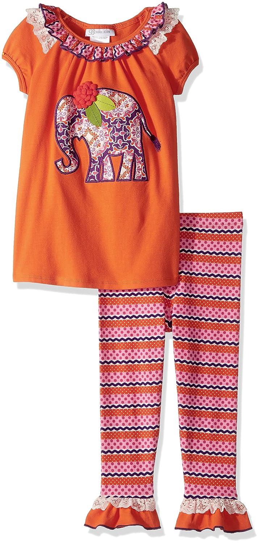 Elephant 6 Bonnie Jean Little Girls Appliqed Dress and Legging Set