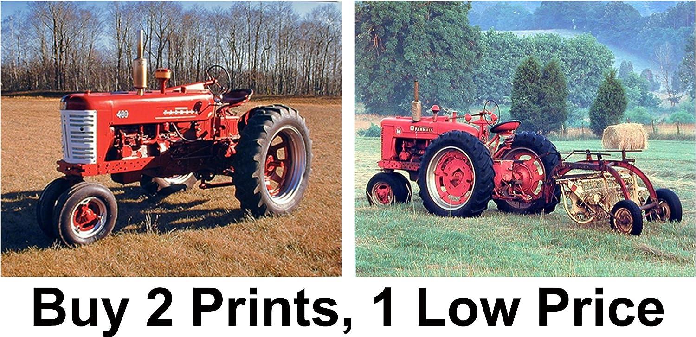 Wall Decoration Red Farmall M Vintage Farm Tractor Art Print Poster 16x20