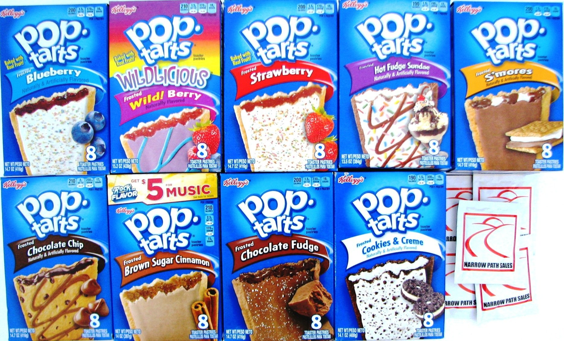 9 Pack! The Ultimate Pop Tarts Variety Pack 9 Flavors - Bundle of 9 Boxes, 1 of Each Flavor. by Narrow Path Sales (Image #5)