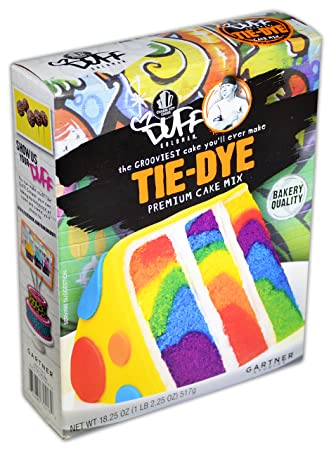 Amazon Com Duff Decorating Mix Cake Tie Dye Grocery Gourmet Food