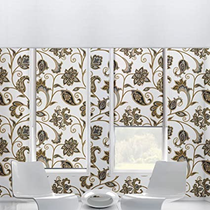 Mughal Floral Self Adhesive Wallpaper Wallsticker Textured 24 Inches X 72