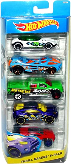 Hot Wheels Off-Road Thrill Racers 5-Pack CDT26 by Mattel: Amazon ...
