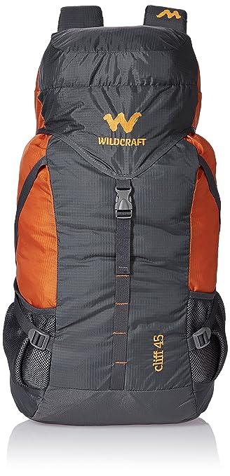 7336dd315ed Wildcraft 45 Ltrs Grey and Orange Rucksack (8903338073864)  Amazon.in   Bags