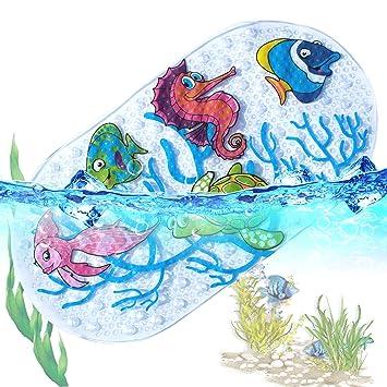 6faa645025683 Tapis de Bébé Baignoire de Bain de Antidérapant Anti Glisse 39 X 69CM  (Ocean World