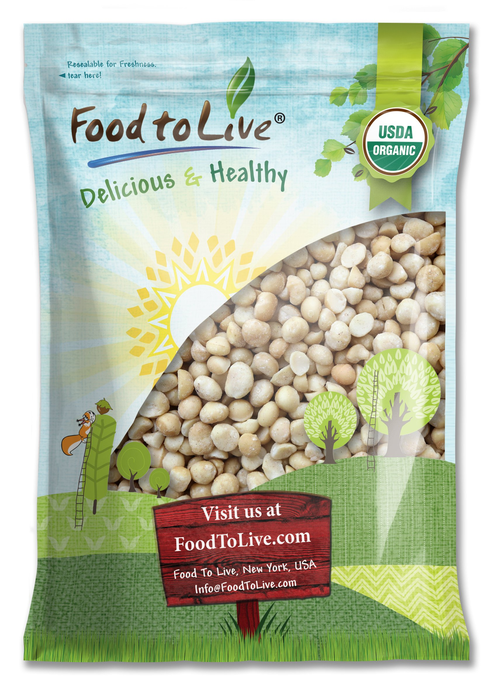 Organic Macadamia Nuts, 8 Pounds - Non-GMO, Kosher, Raw, Vegan by Food to Live