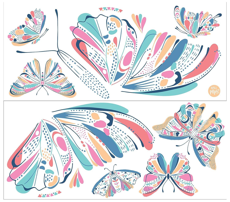 WallPops WPK2579 Give Me Butterflies Wall Art Kit Pastel