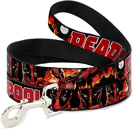 Buckle Down Deadpool Explosion Seatbelt Belt Regular Size