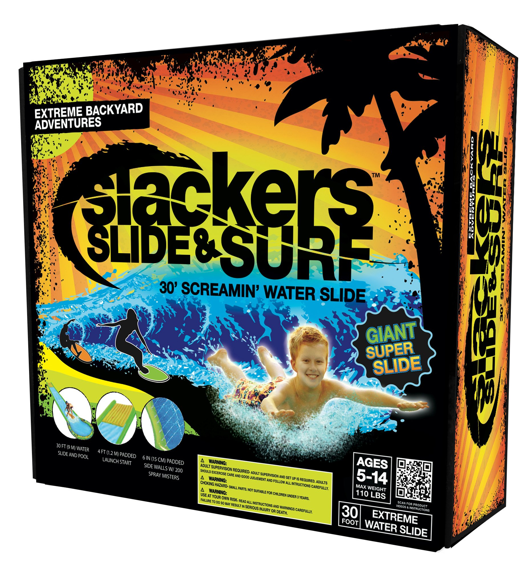 slackers Slide and Surf Screamin' 30' Water Slide Toy