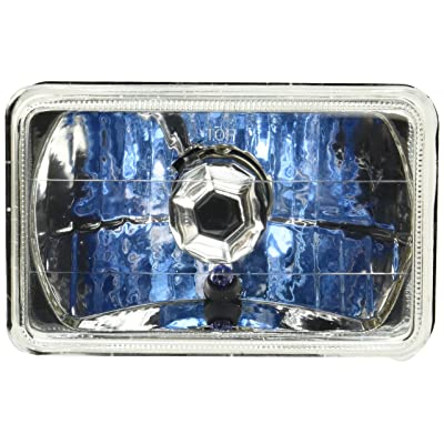 Spec-D Tuning LH-4X6 4X6 Chrome Sealed Beam H4 Headlights Square Lamps Pair: Automotive