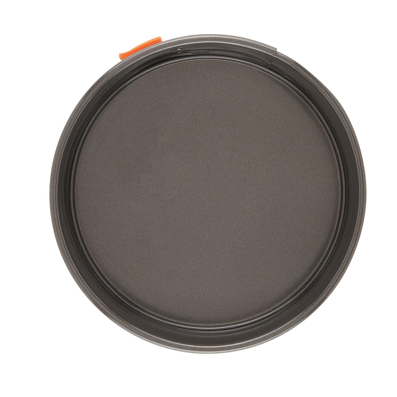 Nonstick Bakeware 9-Inch Oven Lovin/' Round Cake Pan Gray with Orange Handles Rachael Ray Yum-o