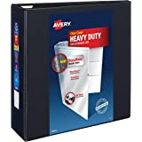 "Avery Heavy Duty View 3 Ring Binder, 4"" One Touch EZD Ring, Holds 8.5"" x 11"" Paper, 1 Black Binder (79604)"