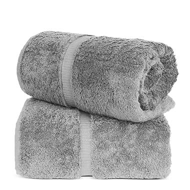 Turkuoise Turkish Towel % 100 Turkish Cotton Luxury and Super Soft Bath Sheets, 35x70 Inches (Gray)