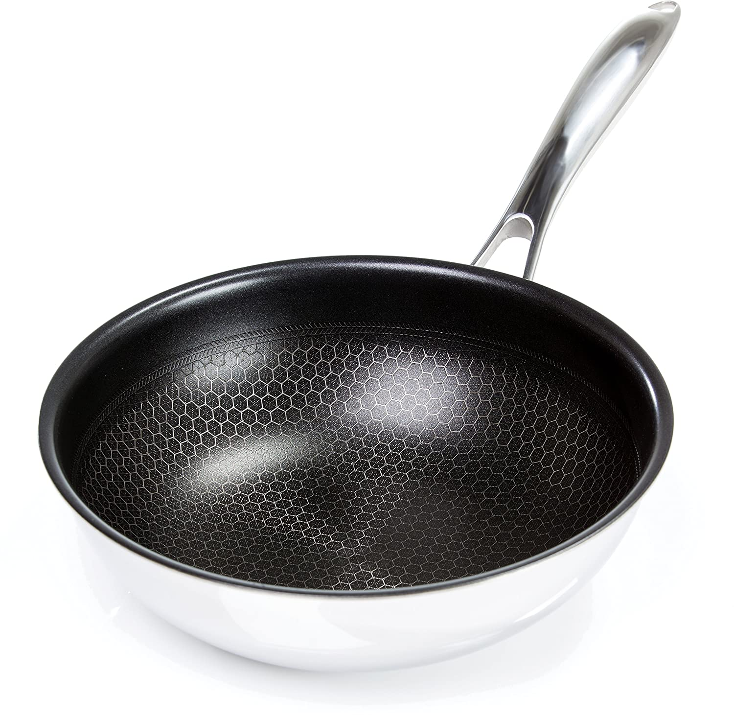 Frieling USA Black Cube Hybrid Stainless/Nonstick Cookware Chef's Pan, 9 1/2-Inch Diameter, 2.5 Quart