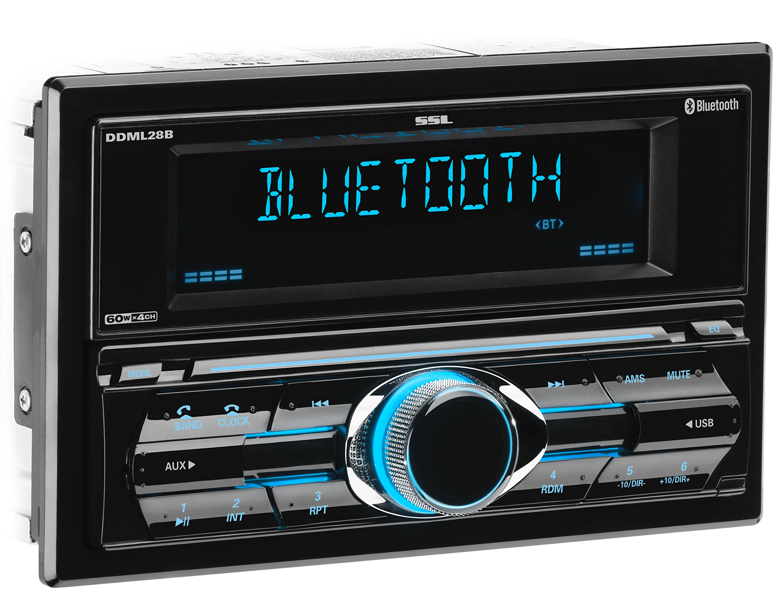 Sound Storm DDML28B Multimedia Car Stereo – Double Din, Bluetooth Audio and Hands-Free Calling, MP3 Player, USB Port, AUX Input, AM/FM Radio Receiver, (No CD/DVD)