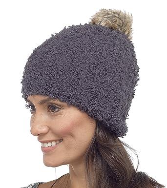 Foxbury Ladies Fluffy Beanie Bobble Hat with Pom Pom One Size Grey ... 935f79f3d58
