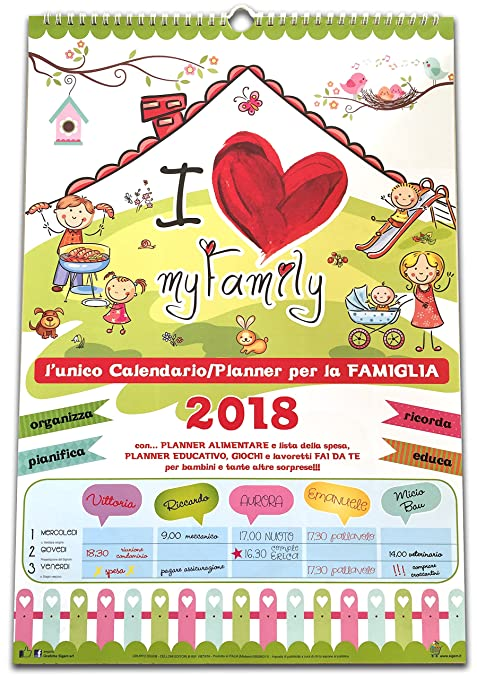 Favorito Calendario della Famiglia 2018 - My Family: Amazon.it: Cancelleria  SO84