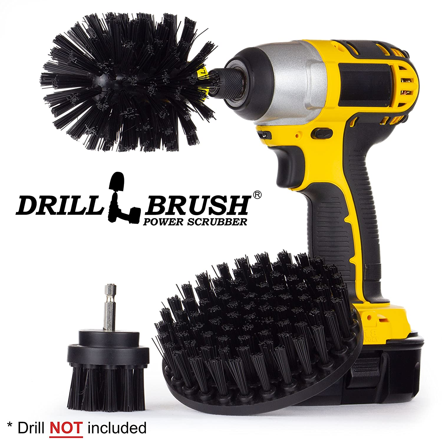 Heavy Duty Drill Powered Cleaning Brush Kit Used for Grill Cleaning and Other Heavy Duty Scrubbing Tasks