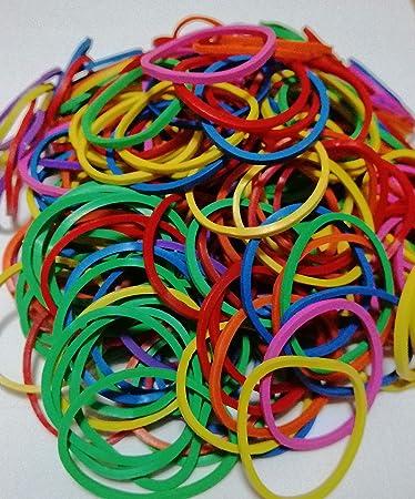 500pcs Elastic Rubber Band Rings Loop Ties Office School Packing Stationery