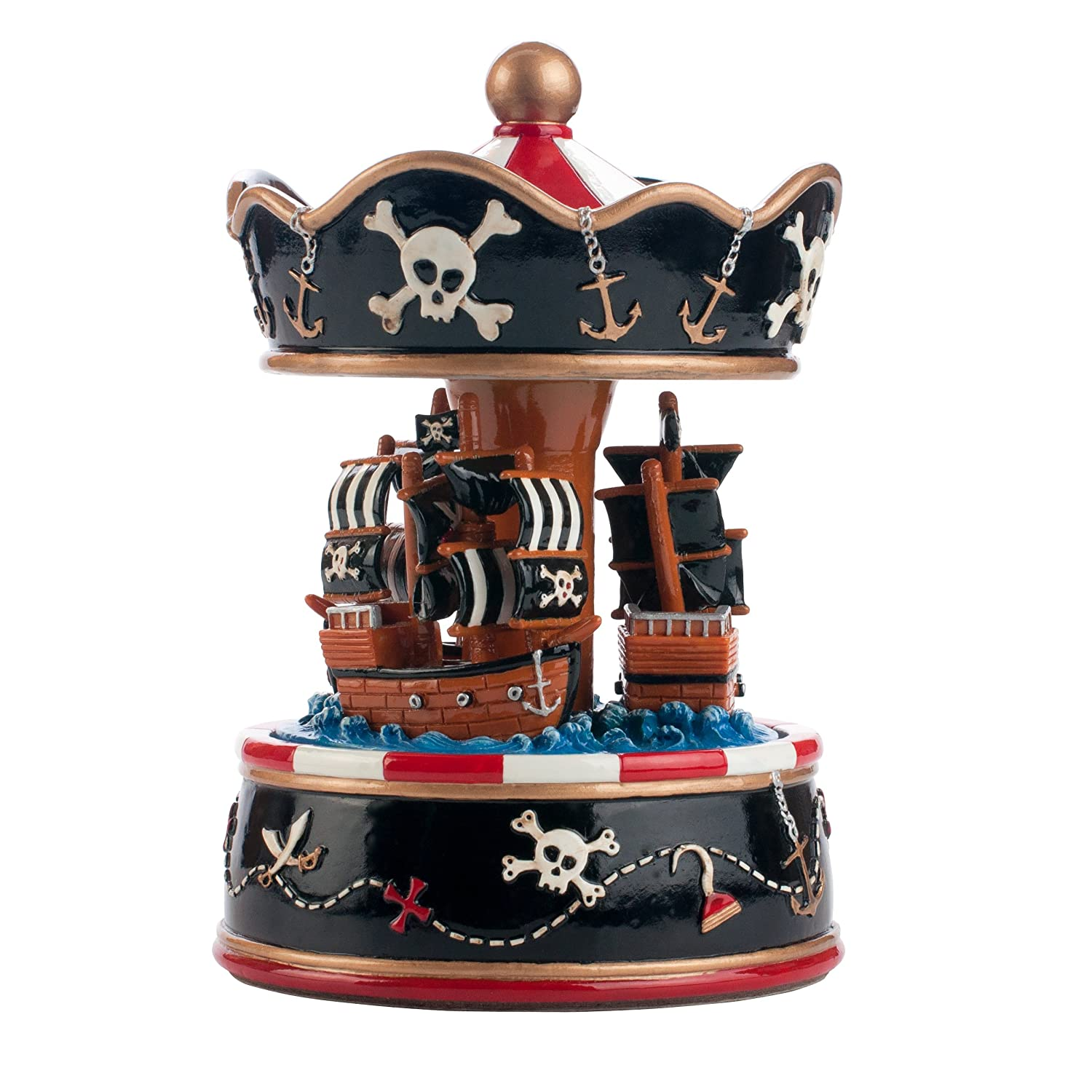 Pink Poppy Pirate Ship Childs Musical Carousel