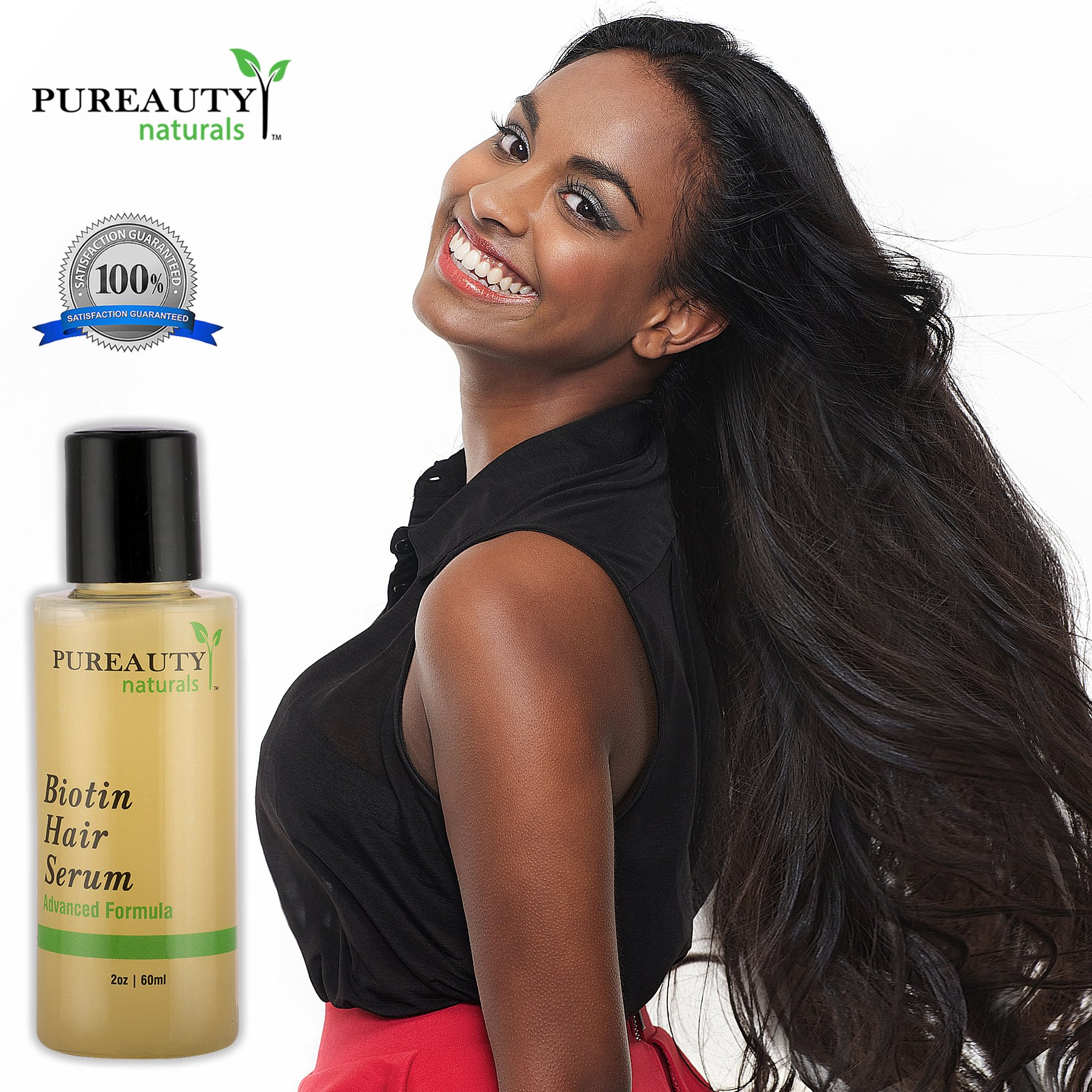 Biotin Hair Growth Serum by Pureauty Naturals – Advanced Topical Formula to Help Grow Healthy, Strong Hair – Suitable For Men & Women Of All Hair Types – Hair Loss Support by Pureauty Naturals (Image #6)
