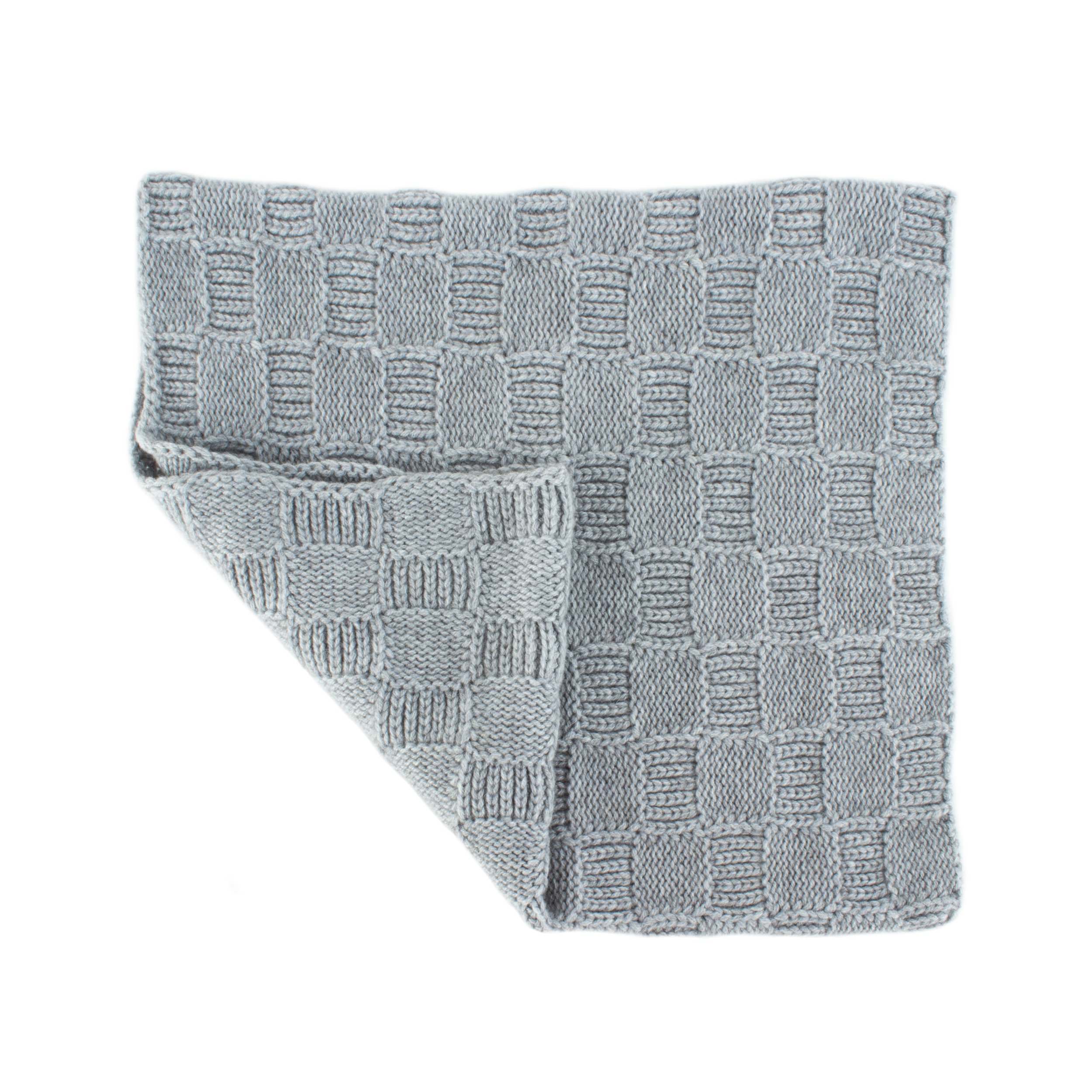Love Cashmere Mens Checked 100% Cashmere Snood - Light Gray - made in Scotland - RRP $160 by Love Cashmere (Image #3)