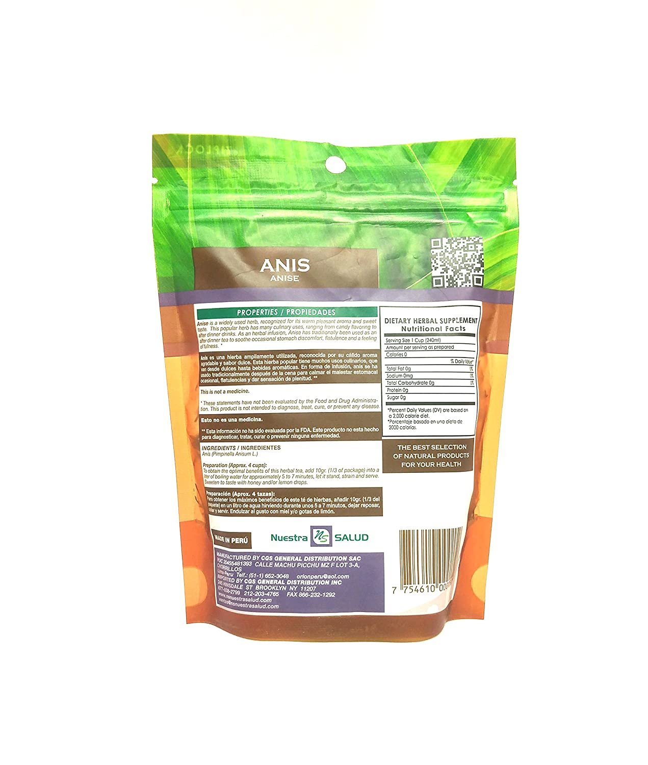 Amazon.com : Anis Herbal Tea Anise 3 Pack : Herbal Remedy Teas : Grocery & Gourmet Food