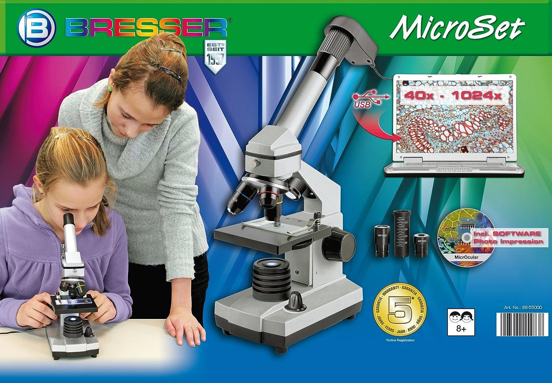 Bresser junior mikroskop set mit usb kamera und heller