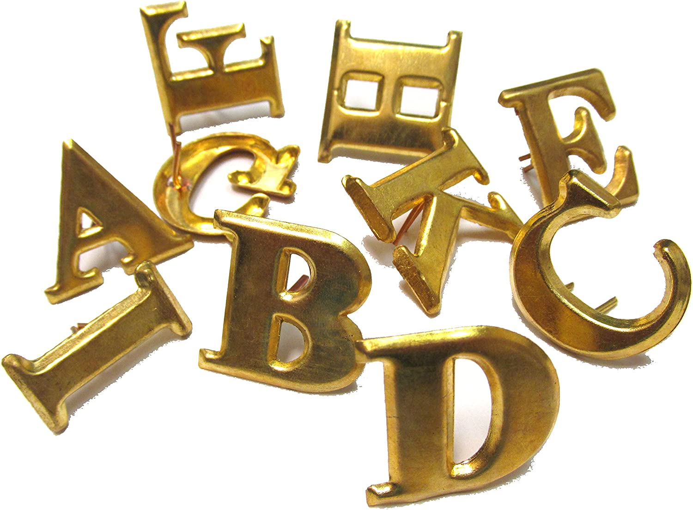 Civil War Reproduction Brass Hat Letter E-New
