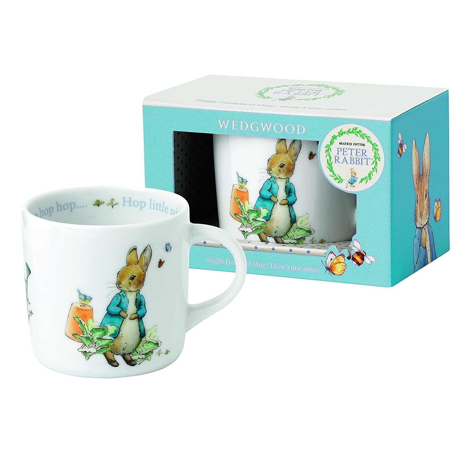 Wedgwood Boy's Peter Rabbit 2-Piece Bowl and Mug Set, White and Blue 58988200262