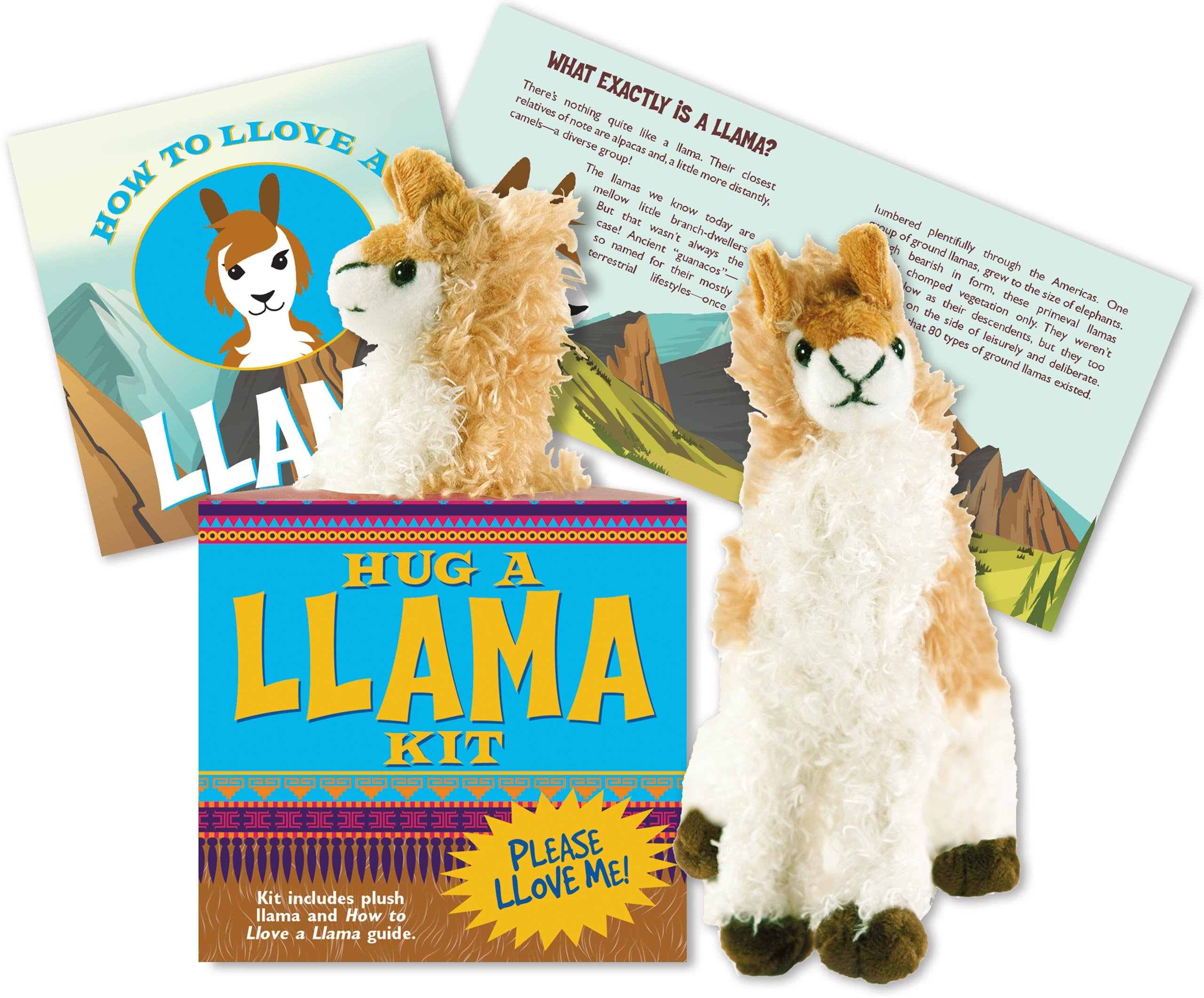 Hug a llama kit plush toy and book peter pauper press hug a llama kit plush toy and book peter pauper press 9781441322159 amazon books solutioingenieria Gallery