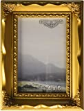 Imperial Frames 5 by 7-Inch/7 by 5-Inch Picture/Photo Frame, Gold Molding with Floral Designs