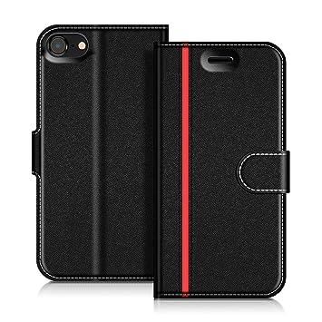 942467cf43e COODIO Funda iPhone 7, Funda Cuero iPhone 7, Funda Cartera iPhone 7 Case  con Magnético/Billetera/Soporte para iPhone 7, Negro/Rojo: Amazon.es:  Electrónica