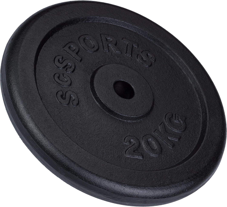 CCLIFE 20 kg Hantelscheiben Set 4x5//2x10kg Gewichtsscheibe Kunstsoff 26 mm