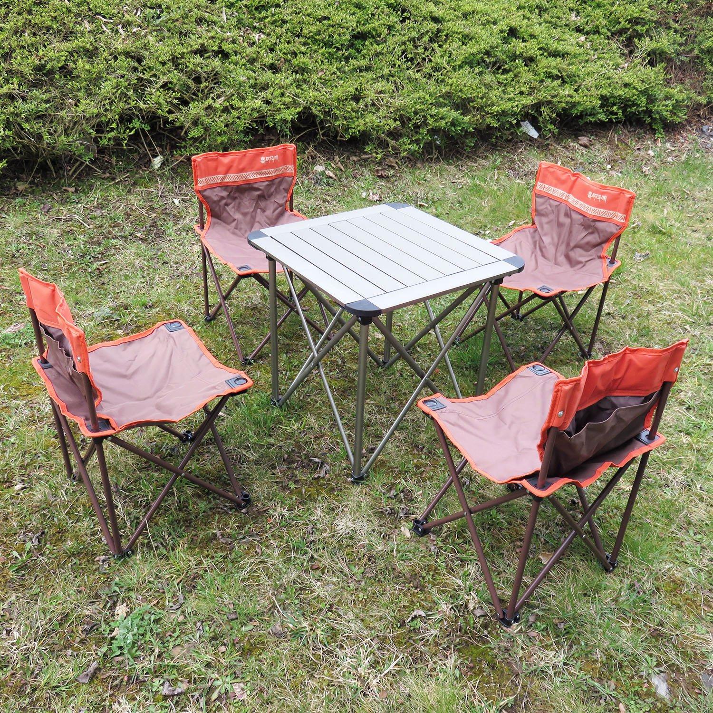 Campingmöbel 5-Set Campingtisch Klapptisch Campingstuhl Faltstuhl für Kinder/Jugendliche
