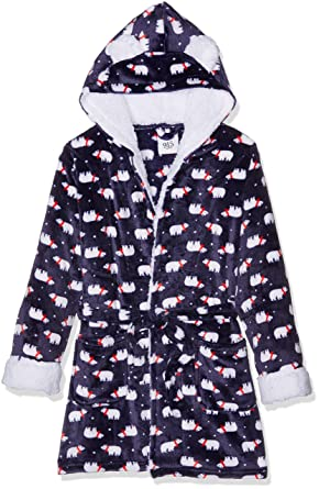 New Look 915 Girl\'s 3884818 Dressing Gown, (Blue Pattern), Small ...