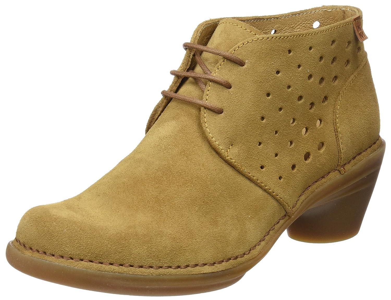 El Naturalista N5323 Lux Suede Camel/Aqua, Zapatos de tacón con Punta Cerrada para Mujer
