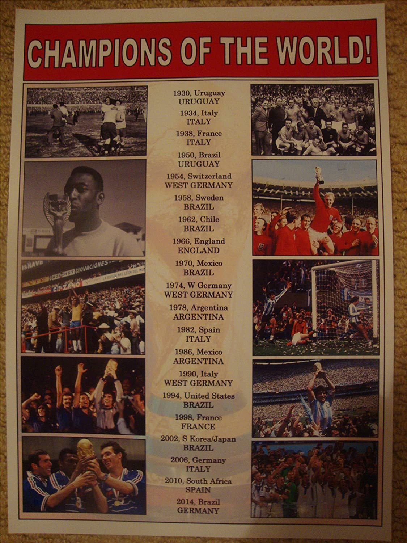 Lilywhite Multimedia FIFA Football World Cup Winners 1930-2014 - Souvenir Print