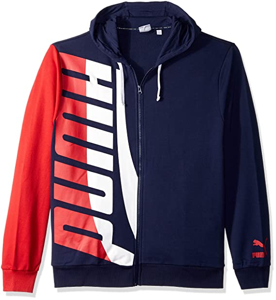f0dbb2468060f PUMA Men's Loud Pack Full Zip Hoodie