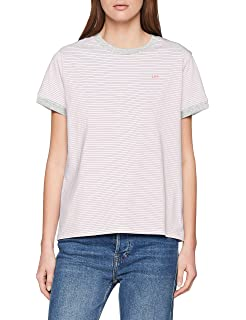 Lee Stripe tee Camiseta, Marfil (Navy Drop EE), Small para Mujer ...