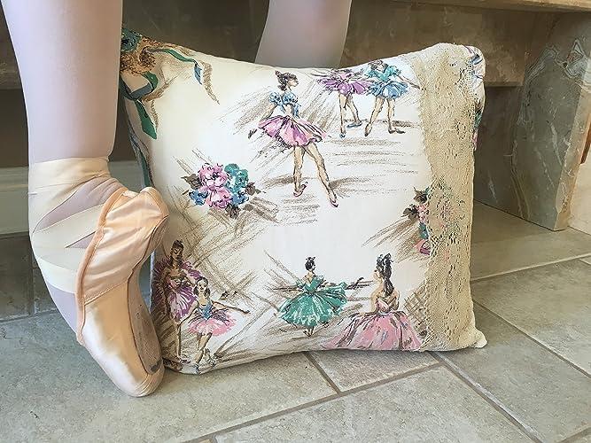 Amazon BALLET DECORATIVE PILLOW COVER Repurposed 40s Degas Best Fabric For Decorative Pillows