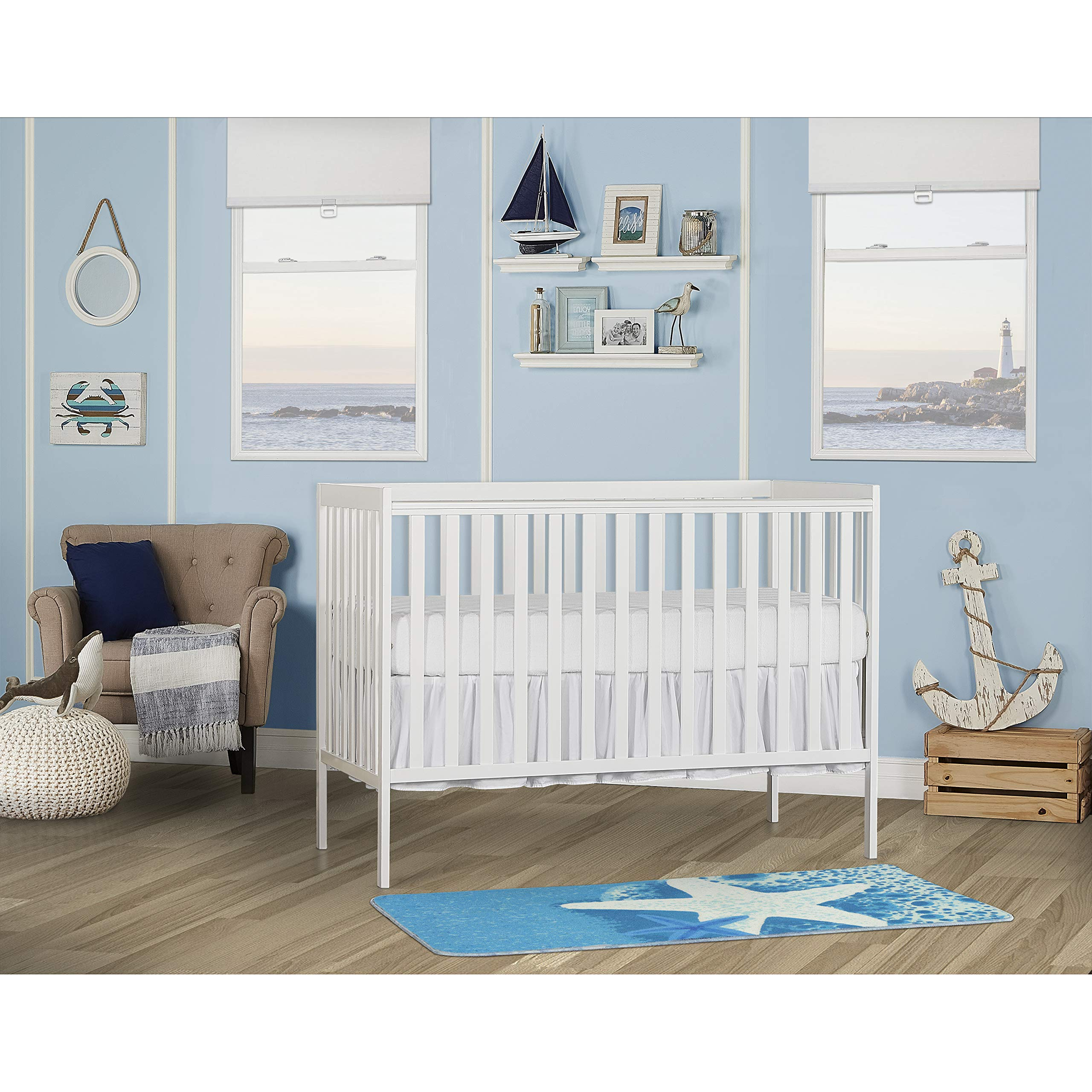 Dream On Me Synergy 5-in-1 Convertible, Crib, White by Dream On Me