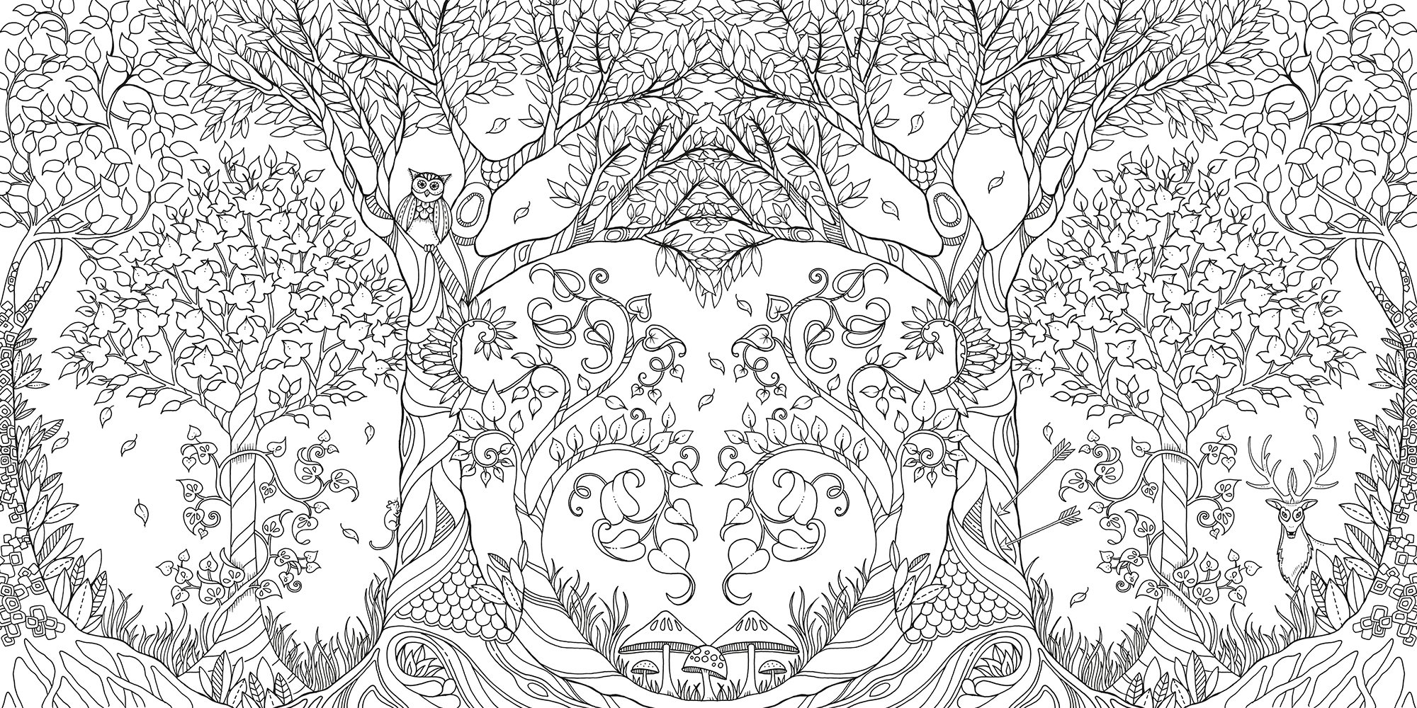 Enchanted forest an inky quest coloring book johanna basford 6063887956574 amazon com books