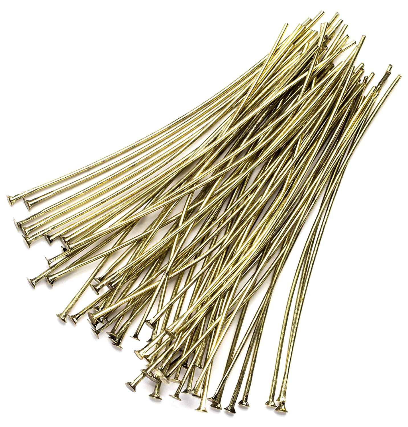 Antique Gold Cousin DIY 60pc Metal 2in Head Pin