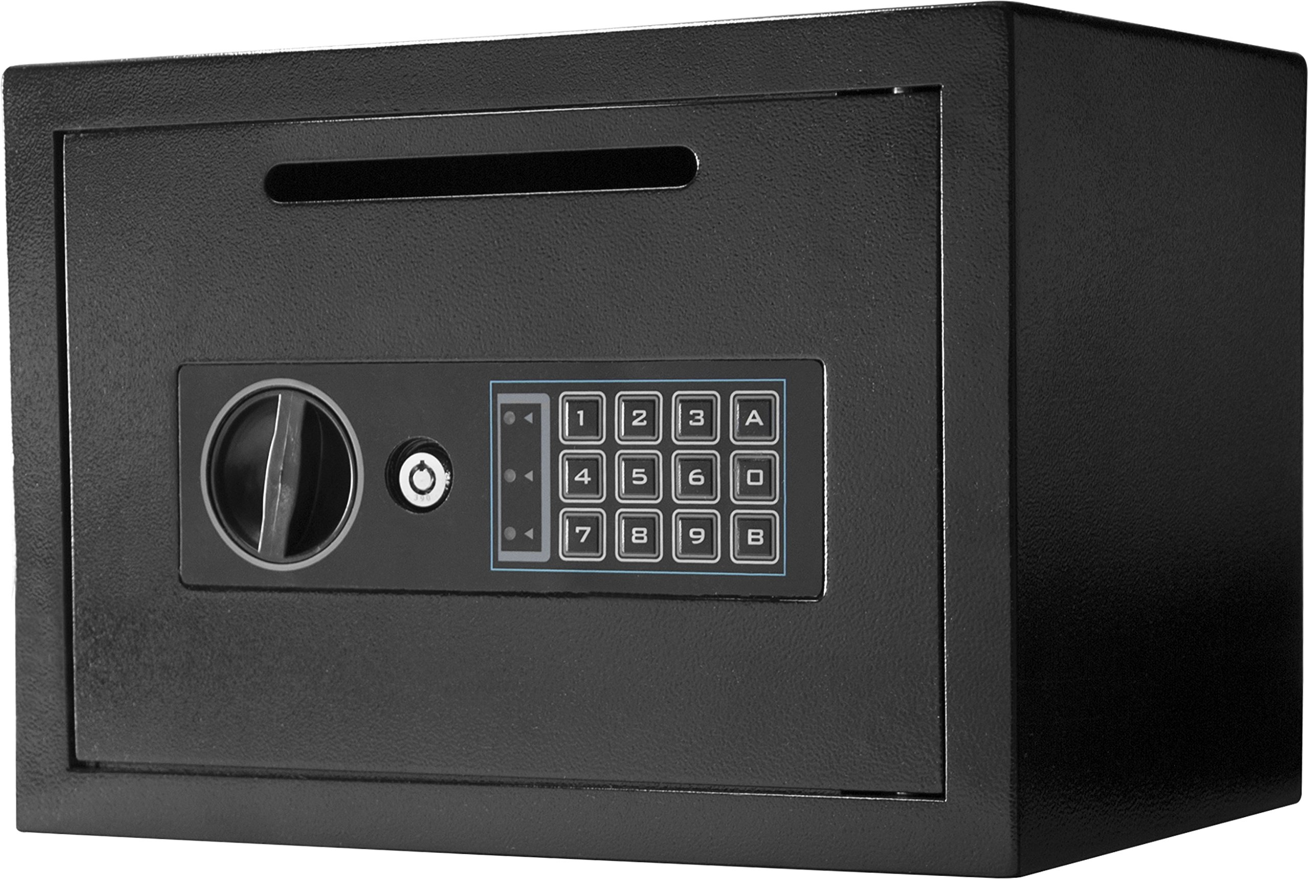 Winbest Steel Digital Keypad Depository Mail Money Cash Drop Deposit Safe Box by winbest