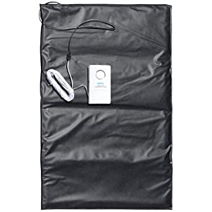 Ideal Security SK630 SOLO Pressure Mat Alarm With Loud Buzz and Pleasant Chime, Triggered When Stepped On On, White Black