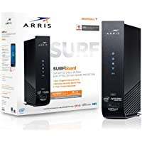 ARRIS SURFboard (16x4) DOCSIS 3.0 Cable Modem Plus AC1900 Dual Band Wi-Fi Router, 686 Mbps Max Speed, Certified for…