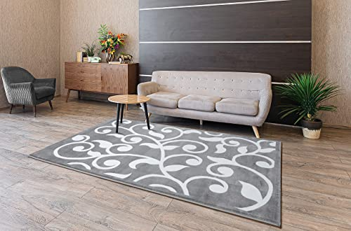 SUSSEXHOME Perfect Soft Area Rugs, Modern Geometric Space Design for Kitchen and Living Room, Gray Rugs, 5×7 Ft. Area Rugs, Indoor Rug, Rug for Kids Room, Runner Rug, Machine Rug