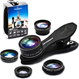 Phone Camera Lens Kit for iPhone Xs/R/X/8/7/6s Pixel, Samsung. 2xTele Lens Zoom Lens+198°Fisheye Lens+0.63XWide Angle Lens &15XMacro Lens+CPL Smartphone,Android,iPhone Lens. Phone Gadget.Photography.